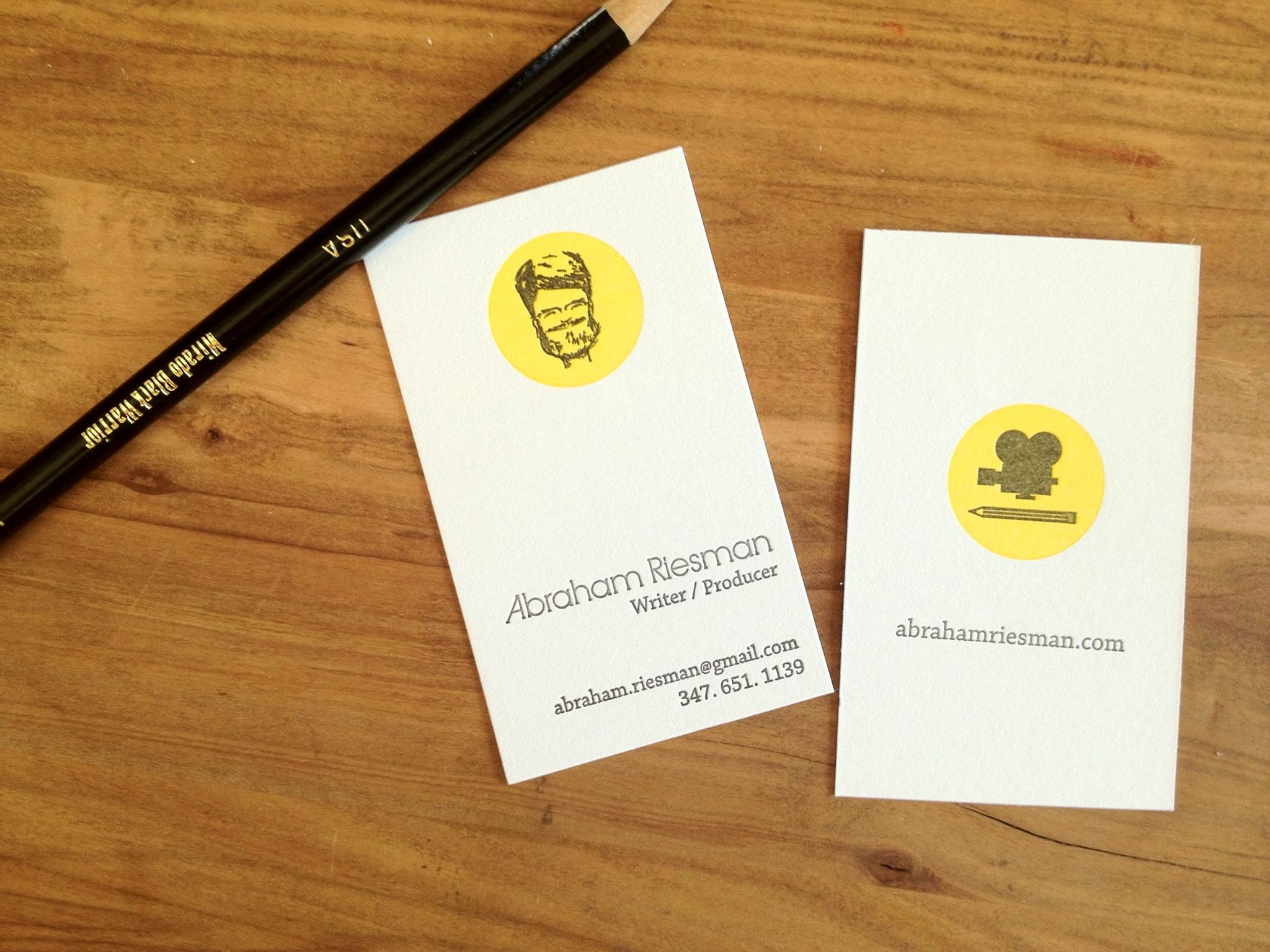 letterpress business cards abraham — fontlove studio
