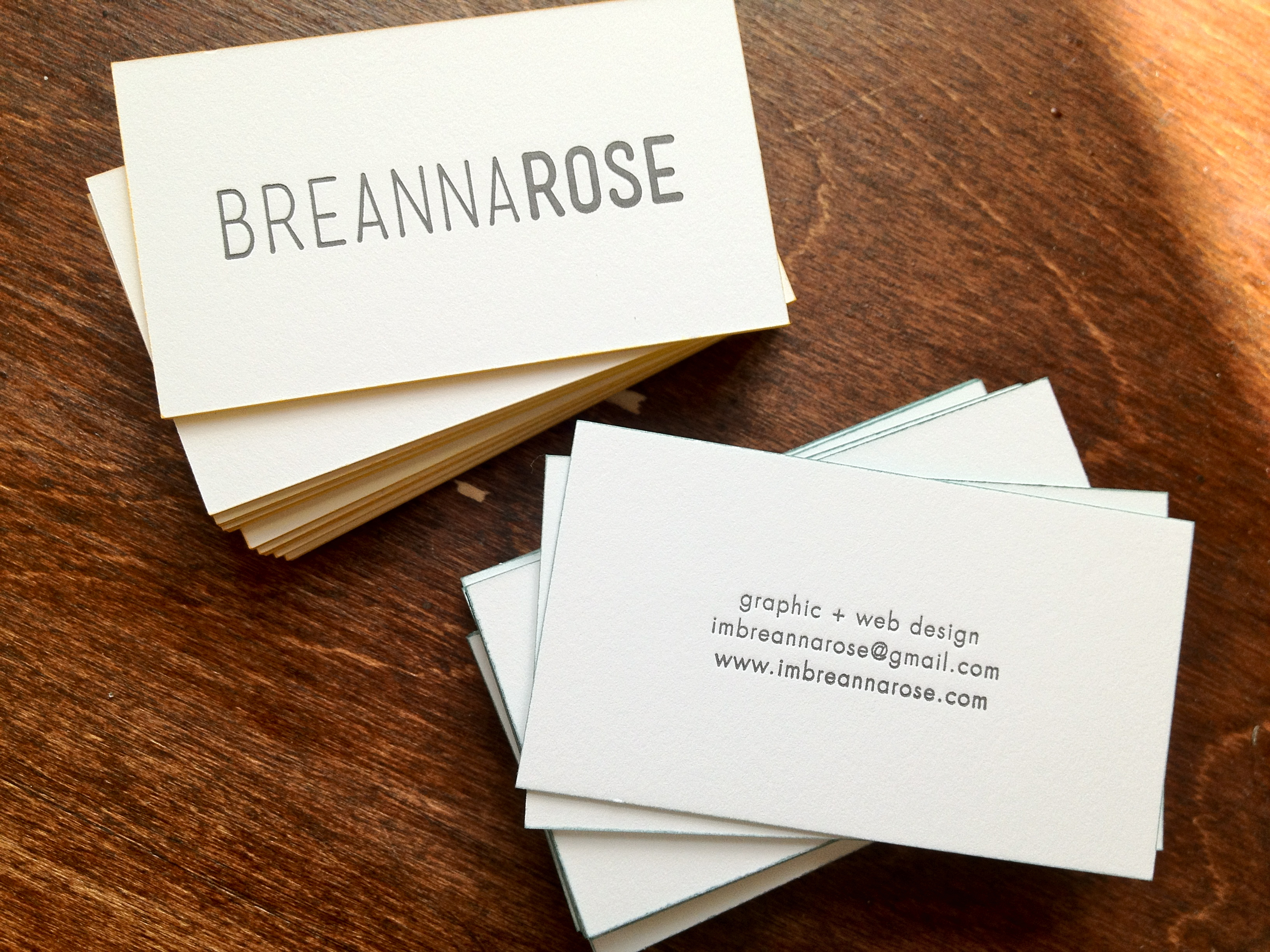 Edge-painted letterpress business cards - Fontlove Blog